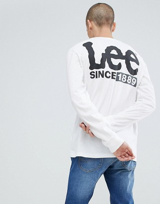 Lee logo long sleeve t-shirt white