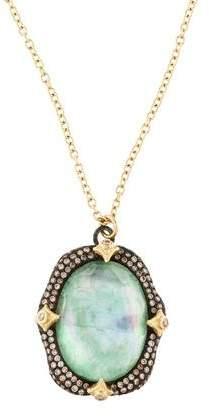 Armenta Quartz, Mother of Pearl & Emerald Triplet Crivelli Pendant Necklace