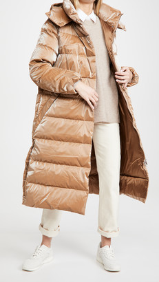 Add Down Down Coat With Detachable Hood