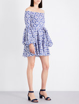 Caroline Constas Gisele cotton-blend off-the-shoulder dress