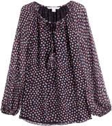 Diane von Furstenberg Printed Silk Tunic Blouse