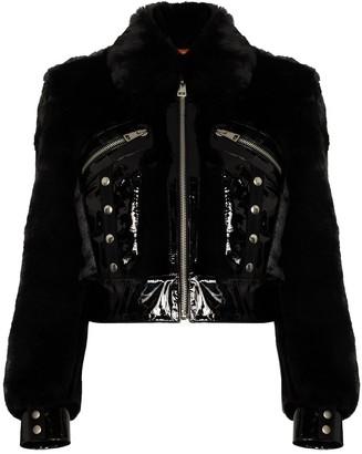De La Vali Liam cropped faux-fur jacket
