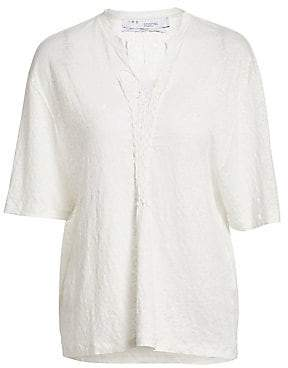 IRO Women's Kind Crochet Linen Tee