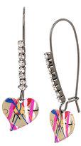 Betsey Johnson Harlem Shuffle Heart Drop Earrings