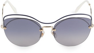 Miu Miu 60MM Round Sunglasses