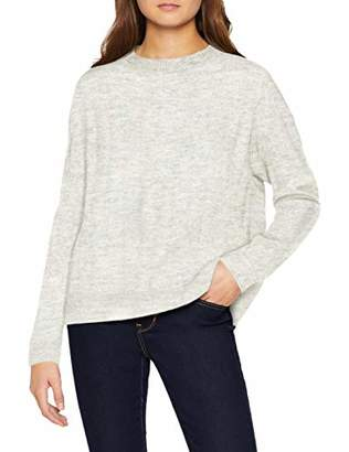 Vero Moda Women's Vmiva Ls Rib O-Neck Blouse Jumper,10 (Size: Small)