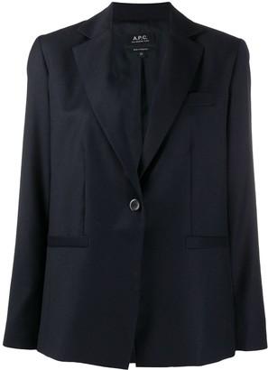A.P.C. Single-Buttoned Tailored Blazer