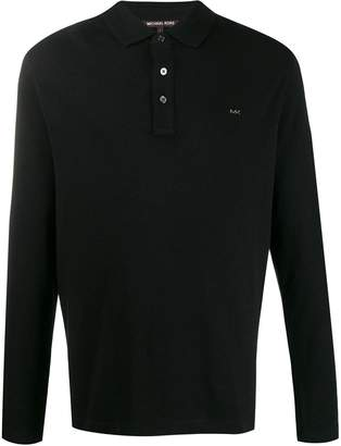 Michael Kors long sleeved polo shirt