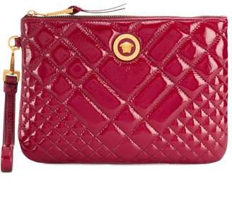 Versace quilted Medusa clutch