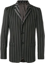Alexander McQueen striped blazer - men - Cupro/Viscose/Wool - 46