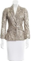 Oscar de la Renta Metallic Embroidered Blazer