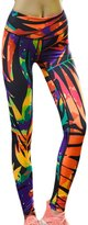 eronde Women Stretchy Leggings Pants Printed for Fitness Yoga Gym Running