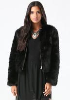 Bebe Faux Fur Evening Jacket