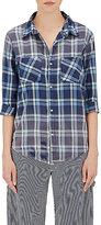 NSF Women's Kimberly Button-Front Shirt-NAVY