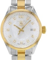 Tag Heuer Carrera WV1450.BD0797 18K Yellow Gold & Stainless Steel Quartz 27mm Womens Watch