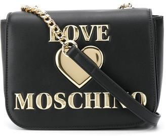 Love Moschino Foldover Logo-Plaque Shoulder Bag