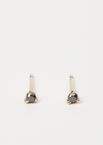 Wwake yellow gold / black diamond small stud earrings