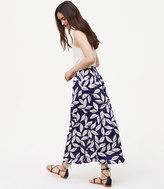 LOFT Petite Leafy Pocket Maxi Skirt