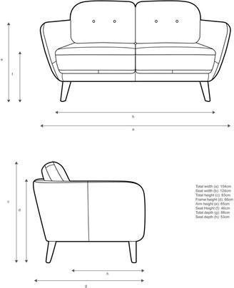 John Lewis & Partners Arlo Small 2 Seater Leather Sofa, Dark Leg