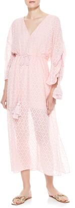 Alice + Olivia Esmeralda Side Slit Silk Blend Midi Dress