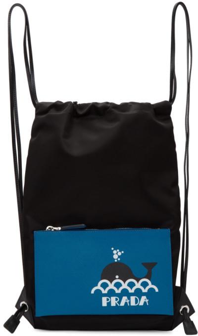 6cd321efea6b Prada Drawstring Bag - ShopStyle UK