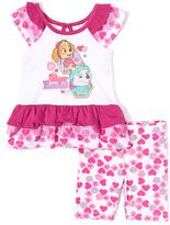 Children's Apparel Network PAW Patrol Purple & White Dress & Shorts - Toddler