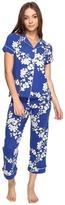 BedHead Short Sleeve Cropped Pants PJ Set Women's Pajama Sets