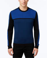 Alfani Men's Big and Tall Colorblocked Sweater, Only at Macy's