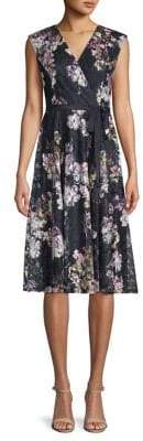 Gabby Skye Moody Floral-Print Dress