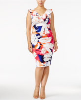 Love Squared Trendy Plus Size Ruffled Printed Sheath Dress