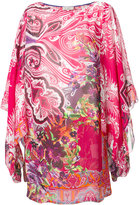 Etro floral print beach dress - women - Viscose - 46