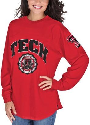 Women's Red Texas Tech Red Raiders Edith Long Sleeve T-Shirt