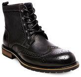 Steve Madden Sprocket Wingtip Leather Boots