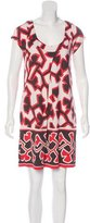 Diane von Furstenberg Silk Geometric Print Dress