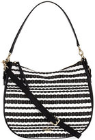 Kate Spade Cobble Hill Mylie Straw Shoulder Bag, Black/Cement