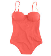 J.Crew Neon underwire low-back one-piece swimsuit