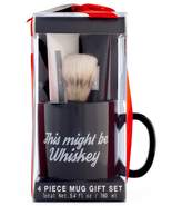 Tricoastal Design Tri Coastal Design Tri-Coastal Design Men's Milgau Black Ceramic Mug Shaving Set