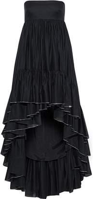 Alexandre Vauthier Strapless Crystal-embellished Gathered Cotton-broadcloth Dress