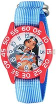 Disney Girl's 'Pocahontas' Quartz Plastic and Nylon Automatic Watch, Color:Blue (Model: W002973)