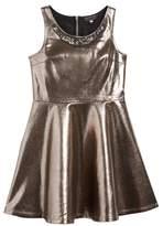 Hannah Banana Girl's Embellished Metallic Skater Dress