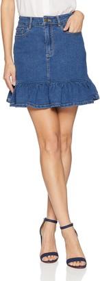 The Fifth Label Women's Frequency Ruffle Hem Denim Mini Skirt