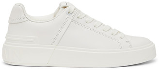 Balmain White B-Court Sneakers