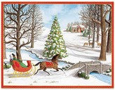 Caspari Over the River and Through the Woods Christmas Cards, Box of 16