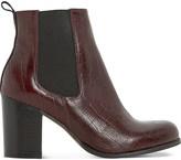 Dune Prynn crocodile-embossed leather chelsea boots