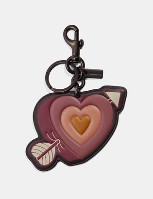 Coach Heart And Arrow Bag Charm