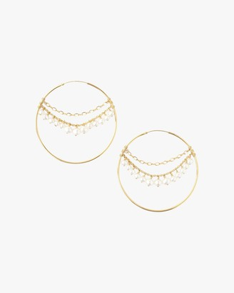 Chan Luu Multi-Chain Hoop Earrings