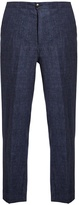 HELBERS Mid-rise linen trousers