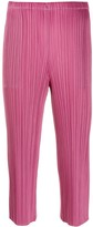 Pleats Please Issey Miyake pleated cropped trousers