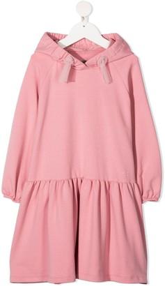 Il Gufo Hooded Sweatshirt Dress