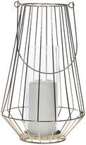 "Home Essentials Asele 13.75"" Gold-Tone Wire Lantern"